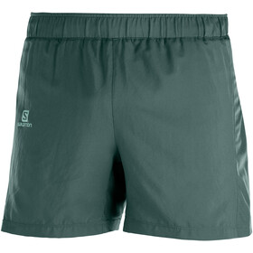 "Salomon Agile Shorts 5"" Men, green gab"